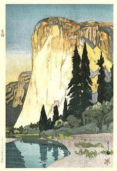 'El Capitan, Yosemite Valley (variant)', by Hiroshi Yoshida.