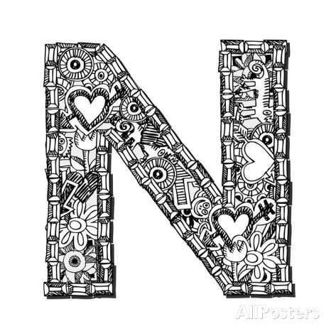 zentangle coloring pages letter n | 17 Best images about Zentangle. on Pinterest | Mandalas ...