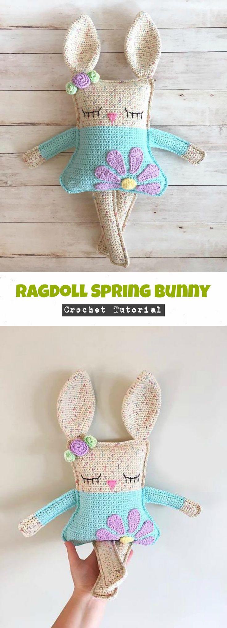 Crochet Ragdoll Spring Bunny