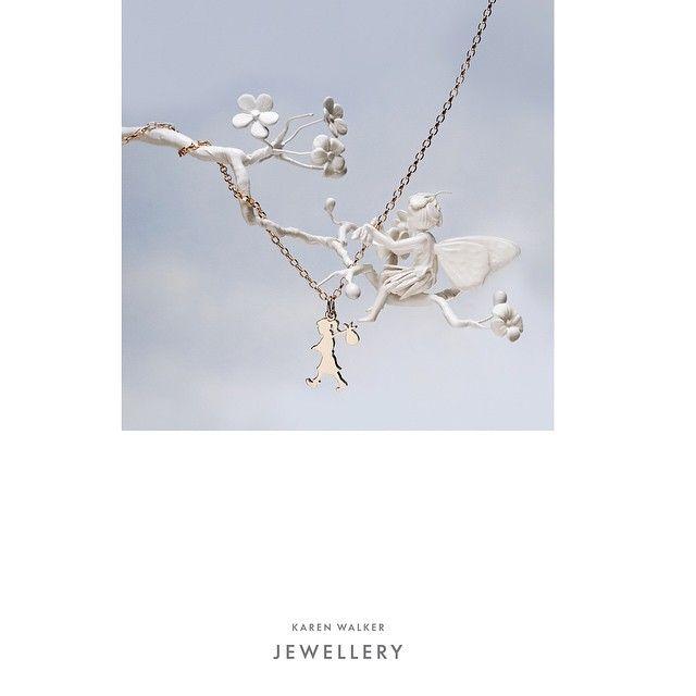 """Karen Walker Jewellery iconic Runaway Girl Pendant and necklace SilverWolf Jewellery Kawana Shopping World Buddina Queensland…"""