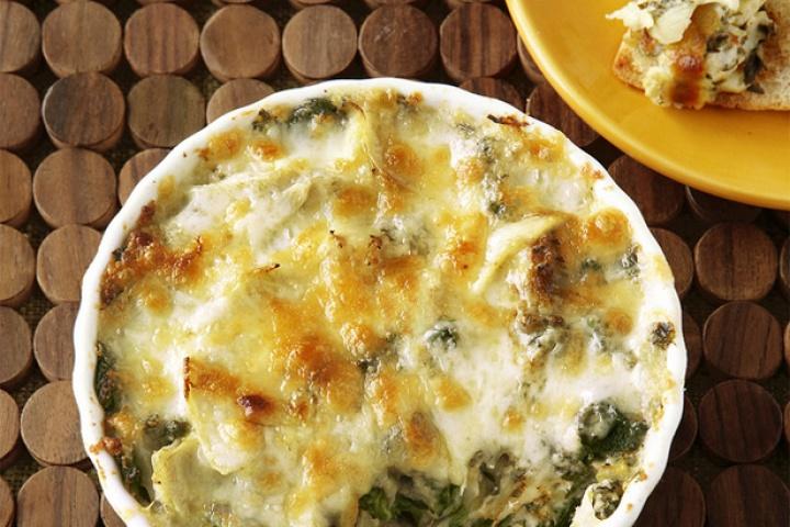 Paula's Hot Spinach and Artichoke Dip
