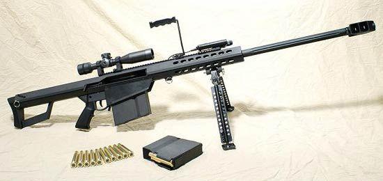 Barrett M82 0.5 inch rifle......perfect for long range Zombie killing