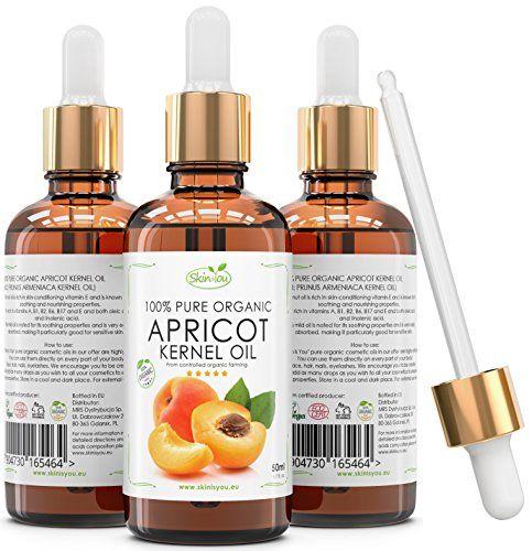 Aprikosenkernöl 100% Reines Bio Kaltgepresst   50ml   Schnell absorbierendes, leichtes Öl   Erste Wahl für Massagen   Reduziert dunkle Ringe und geschwollene Augen   Langzeitpflege   Schönes, glänzendes Haar, das nicht fettet