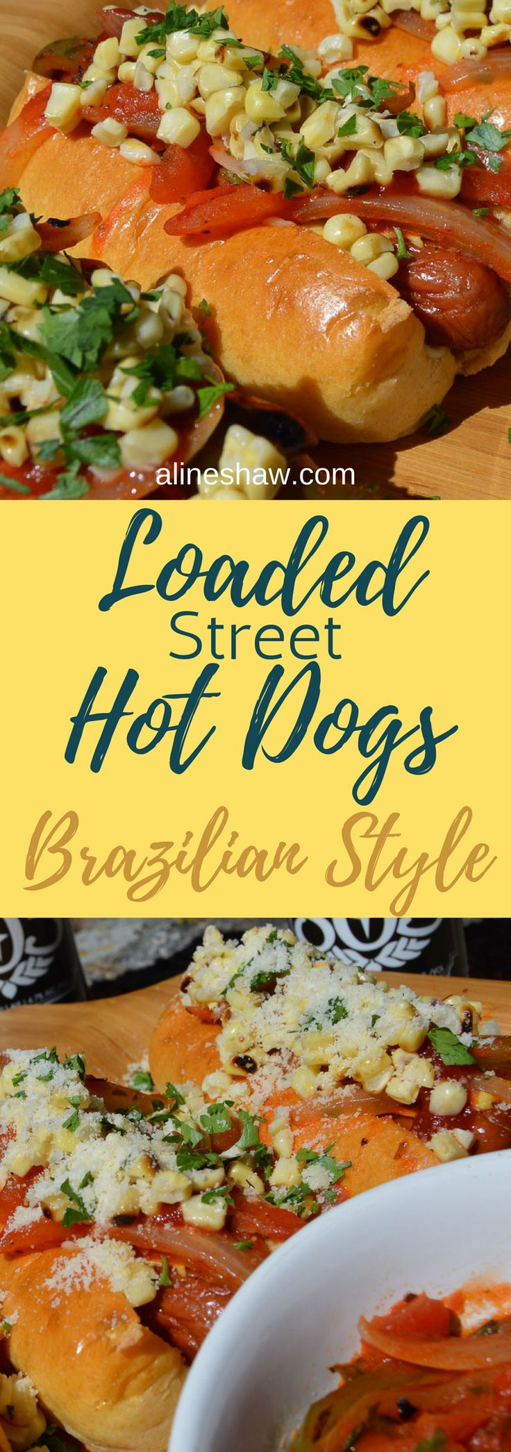 Loaded Hot Dogs | Party Food | Game Night | Summer | Party | Easy Recipes | Grill | Brazilian Food