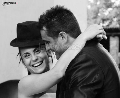 Foto di sposi in bianco e nero