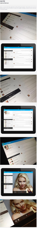 skype ui: Tablet App, Design Apps Ui Ux, Pessoasl Relacionadas, Design Ui Ux Tablet, Tablet Design, Interface Design, Das Pessoasl, Ios Skype, Action Bar