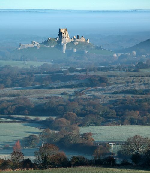 Corfe Castle, Dorset, South West England, UK || from Kingston by Tony Gill on Flickr