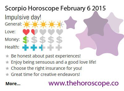 Impulsive day for #Scorpio on Feb 6th #horoscope ... http://www.thehoroscope.co/horoscope/Scorpio-Horoscope-today-February-6-2015-2145.html