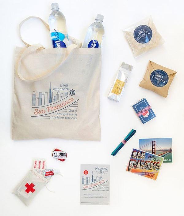 Welcome bag - Sacolinhas com presentes para seus convidados usadas principalmente em casamentos de destino.