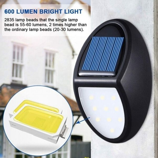 1pc 10 Led Automatically Turns On Solar Power Wall Light Garden Lighting Safety Light Outdoor Waterproof Light Wish In 2020 Solar Led Lights Solar Lamp Solar Security Light
