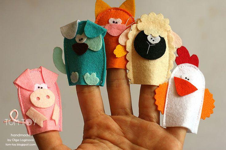 Handmade cloth quiet busy book for Sergio, felt finger puppets, развивающая книжка