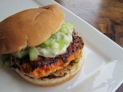 Spicy Buffalo Chicken Burgers