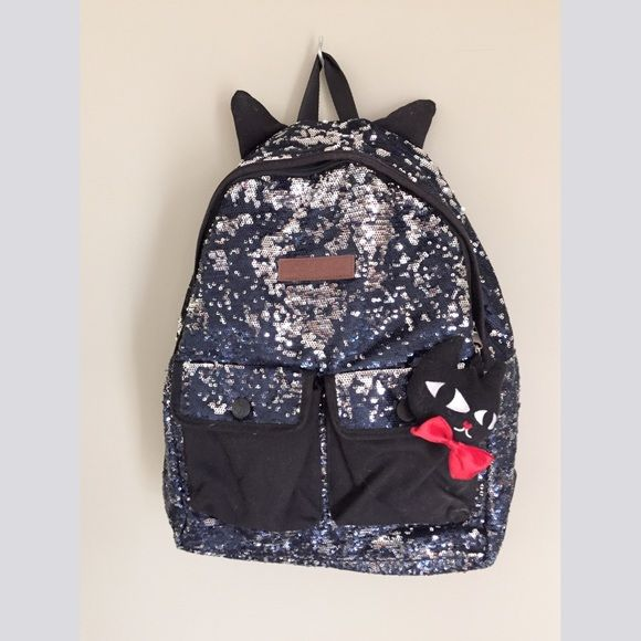 Cat Ear Glitter Decorate Backpack Daily Backpack. Double adjustable shoulder straps.28cm*16cm. Gently used condition. Azona Bags Backpacks