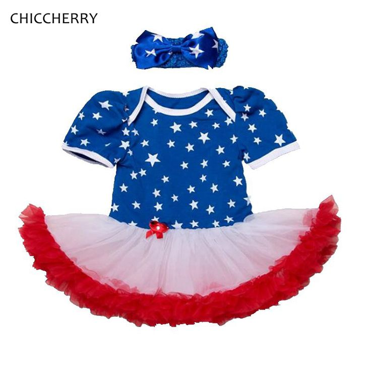 >> Click to Buy << Blue Stars Print 4th of July America Girl Outfits Baby Lace Romper Dress Headband Set Robe De Bebe Cute Toddler Girl Clothes   #Affiliate