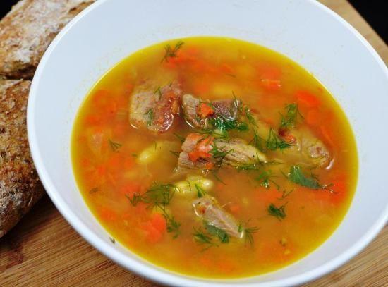 Белый фасолевый суп по-польски