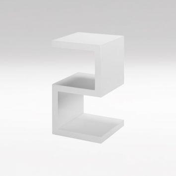 Zig Zag End Table White $995 {60x32x32}