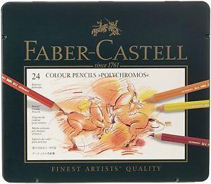 Faber-Castell-Polychromos-Colour-Pencils-Tin-of-12-24-36-60-120-Artist-Grade