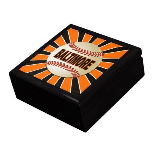 Baltimore Baseball Keepsake Jewelry Gift Box