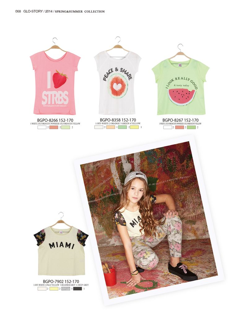 Fun fruity t-shirts for girls  #glostory #fashion #forgirls #ss15 #cute #clothing #fashion #tshirt #fruity #pink