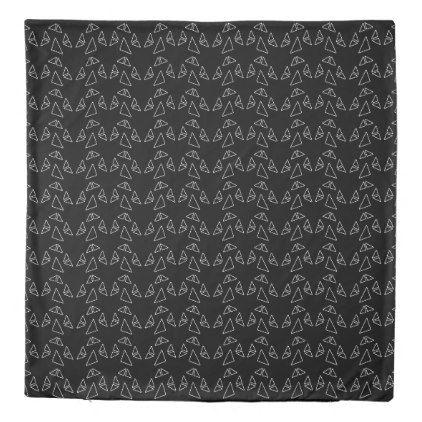 Triangles Black Modern Duvet Cover Set  $186.69  by Duvet_Covers_Shop  - cyo customize personalize unique diy