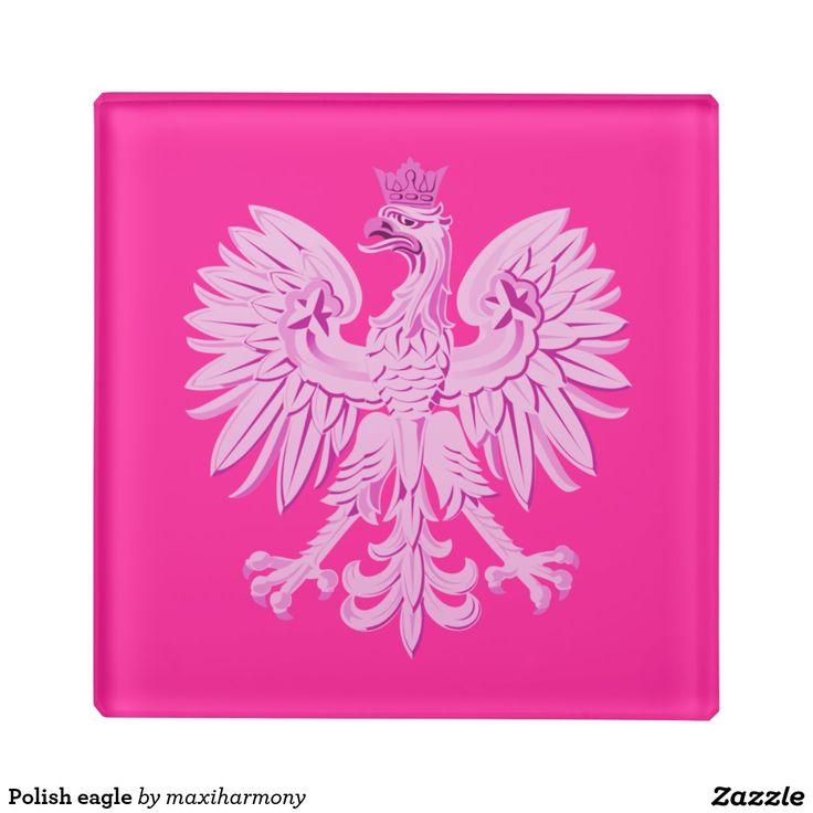 Polish eagle glass coaster