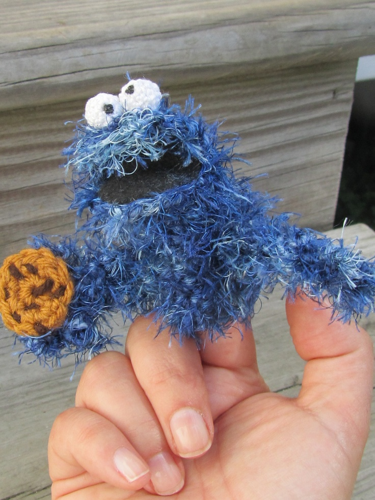 Amigurumi Cookie Monster Pattern : 113 best images about Crochet - Finger Puppets ! on ...