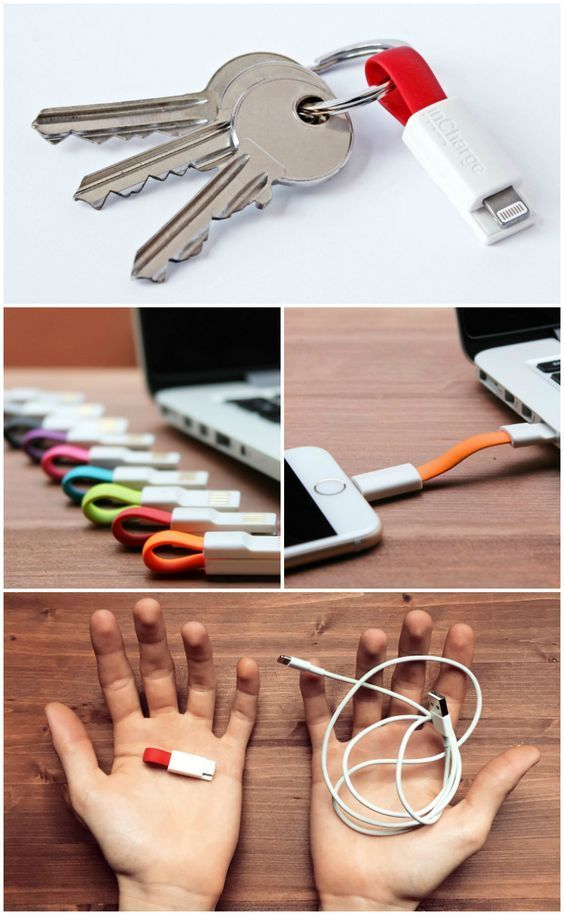 The inCharge is the smallest and most portable smartphone charging cable on the market today. It folds up to a length of only 1.5.