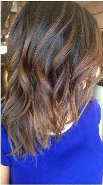 Ombree hair, brown highlights