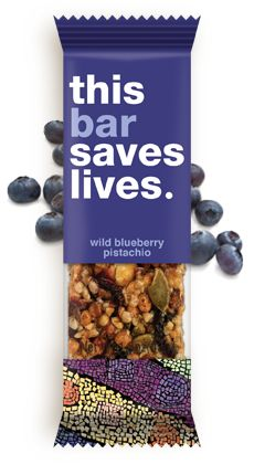 Wild Blueberry Pistachio. For every bar sold, they give a packet of life-saving food to a child in need.