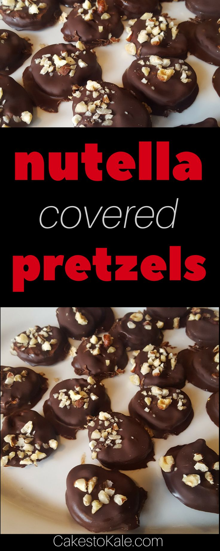 Nutella Covered Pretzels #recipe #food #nutella #christmas