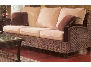Rattan Sleeper Sofa - Kensington -  Liked @ www.homescapes-sd.com #staging San Diego home stager (760) 224-5025