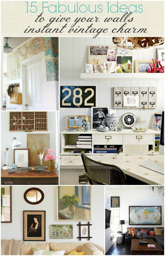 Fabulously vintage wall decor ideas 539 best