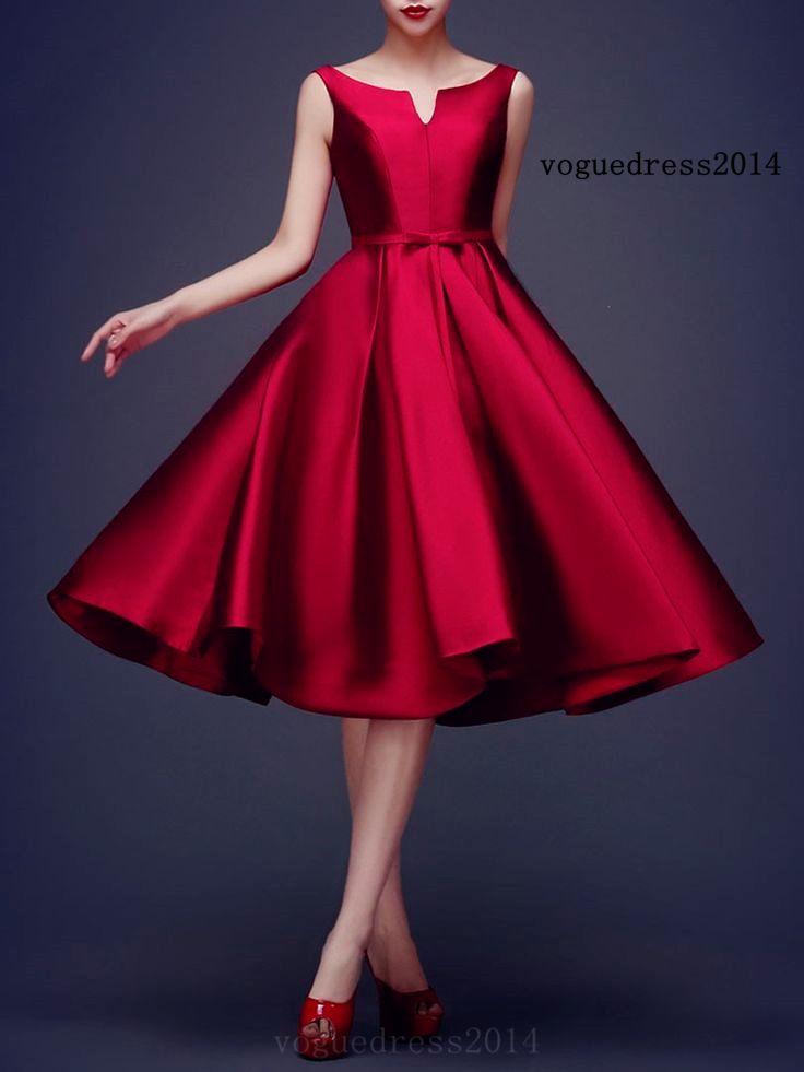 Wine Red Bowknot Waist Dress