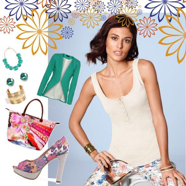 KVĚTINOVÁ ZAHRADA #top #fashion #style #classic #summer #moda #tilko #sirokaraminka