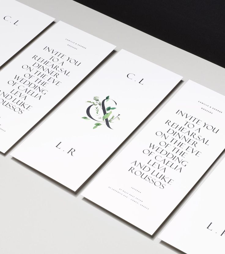 Viridian Floral Ampersand Rehearsal Invitation — Venamour