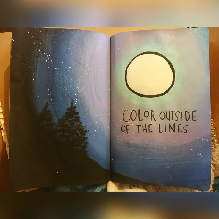 Color outside of the lines. Wreck this journal.