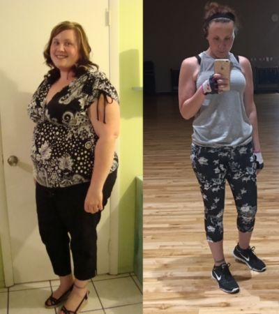 NAME : Kristyn BEFORE WEIGHT : 283 AFTER WEIGHT : 160 POUNDS LOST : 123
