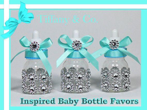 Tiffany Amp Co Inspired Baby Bottles Baby Shower Favors