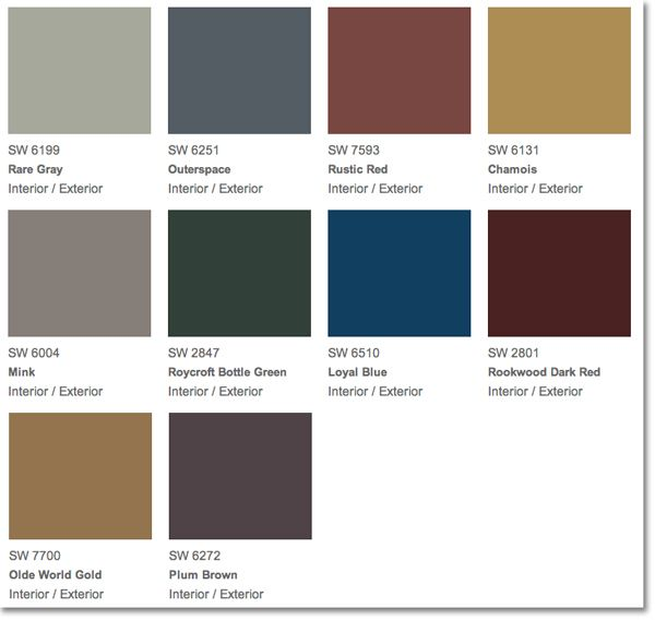 34 best paint colors images on pinterest wall colors for Rustic paint colors from sherwin williams