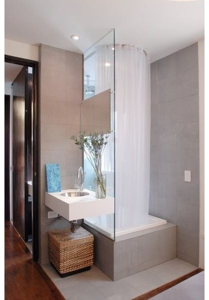 Contemporary Bathroom Small Bathroom Design, Pictures, Remodel, Decor And  Ideas   Page 11