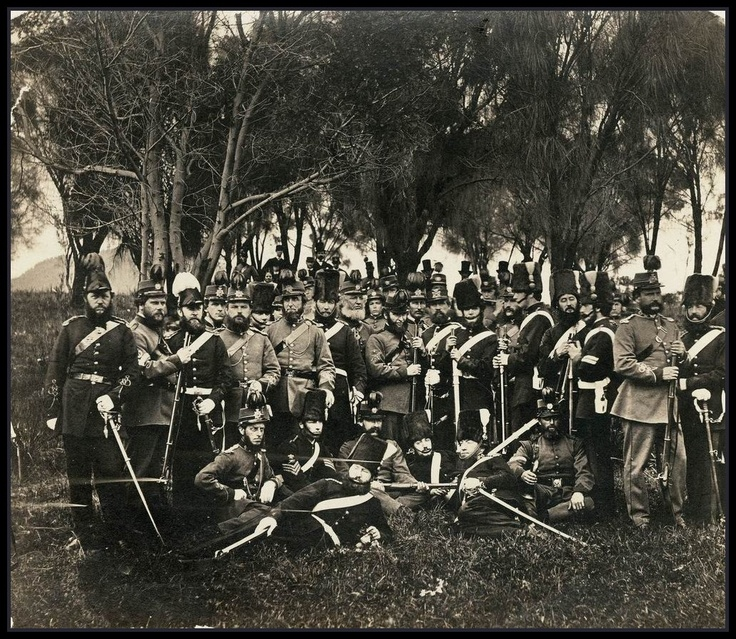Members of the South Australian Volunteer Forces in 1860. The South Australian colony was not a colony of convicts and as such it sought to create a defense force as early as 1841. The SA Volunteer Force was established in 1859. In 1865 South Australia became the first state to introduce partially paid volunteers, which was a system all of the other colonies were soon to follow.