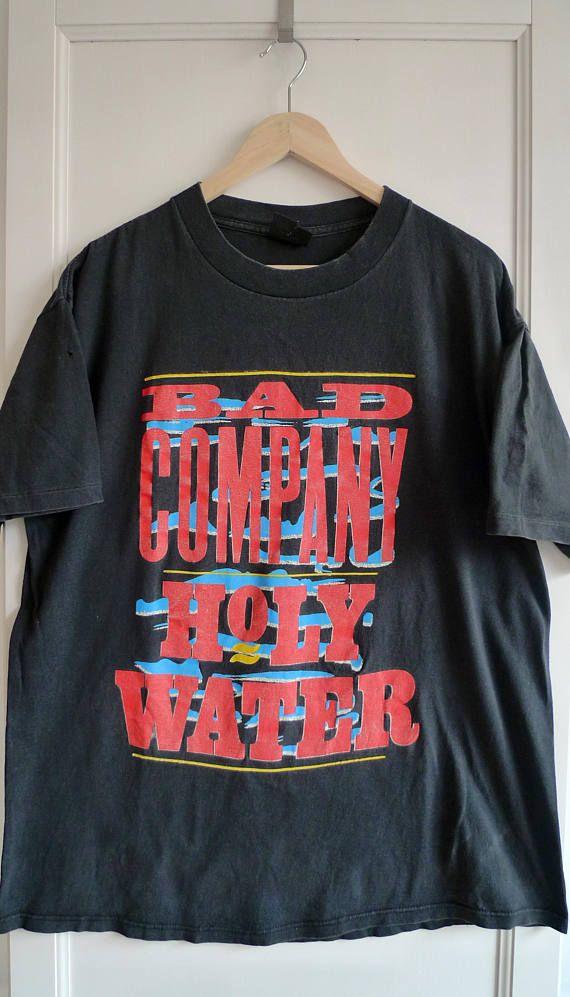 Vintage 1991 Bad Company Holy Water Band Tee Badcompany 1990