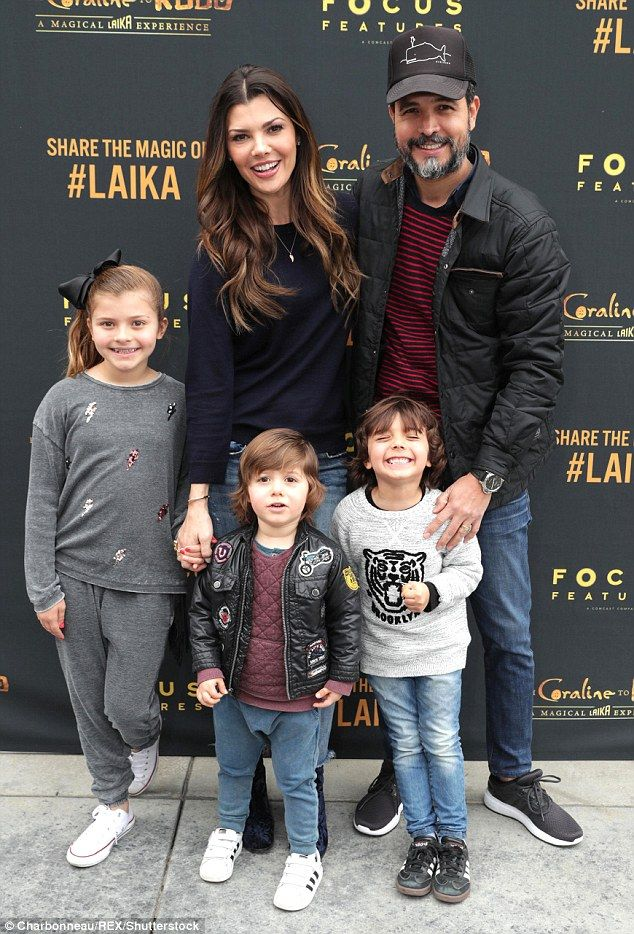 Say cheese! Ali Landry and husbandAlejandro Gomez Monteverde brought children Estela,Valentin and Marcelo