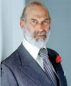 Prince Michael of Kent is the second son of Prince George and Princess Marina of Kent.  He is a first cousin of Queen Elizabeth and a first cousin once removed of Prince Philip.  He has a strong interest in Russia and speaks fluent Russian.   Tsar Nicholas II was first cousin to three of his grandparents.   His DNA was used to identify the remains of the Romanov family.