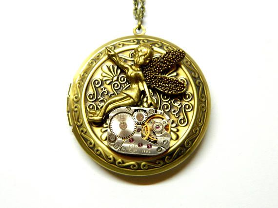 Dream of the Gold Fairy two pictures keepsake locket gift