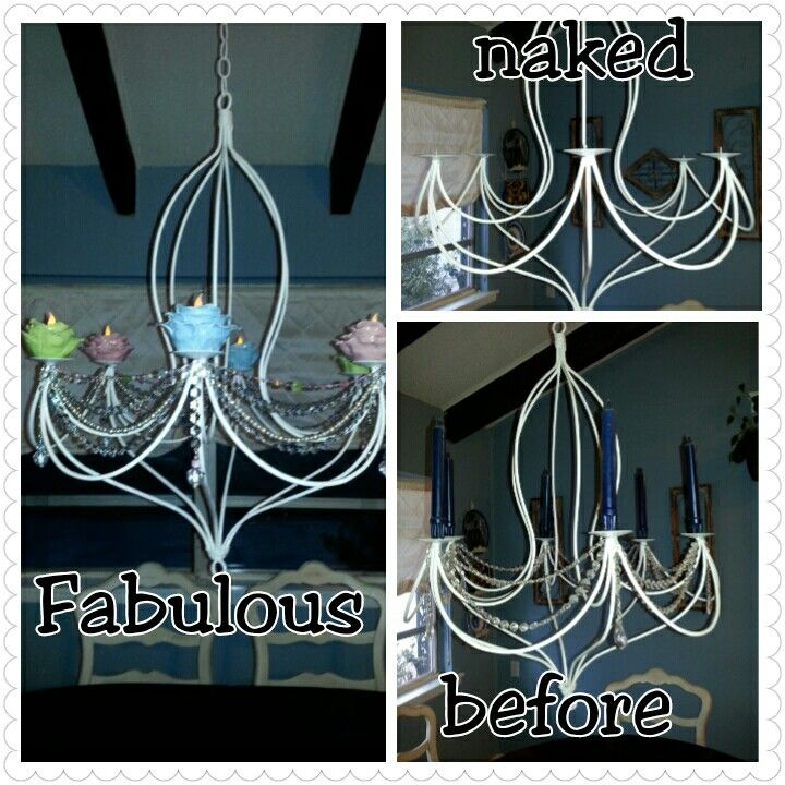 Just finished revamping my chandelier!