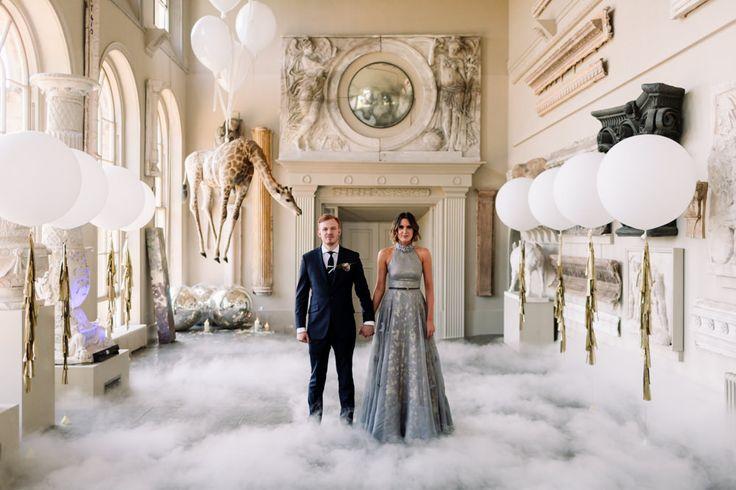 Stylish Bride & Groom - Millar Cole Photography | Stylish Wedding at Aynhoe Park
