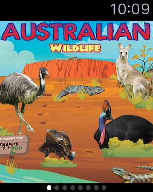 Australian Wildlife  - Quickly review and cycle thru info on animals from your wrist as you see them in the wild or in a zoo