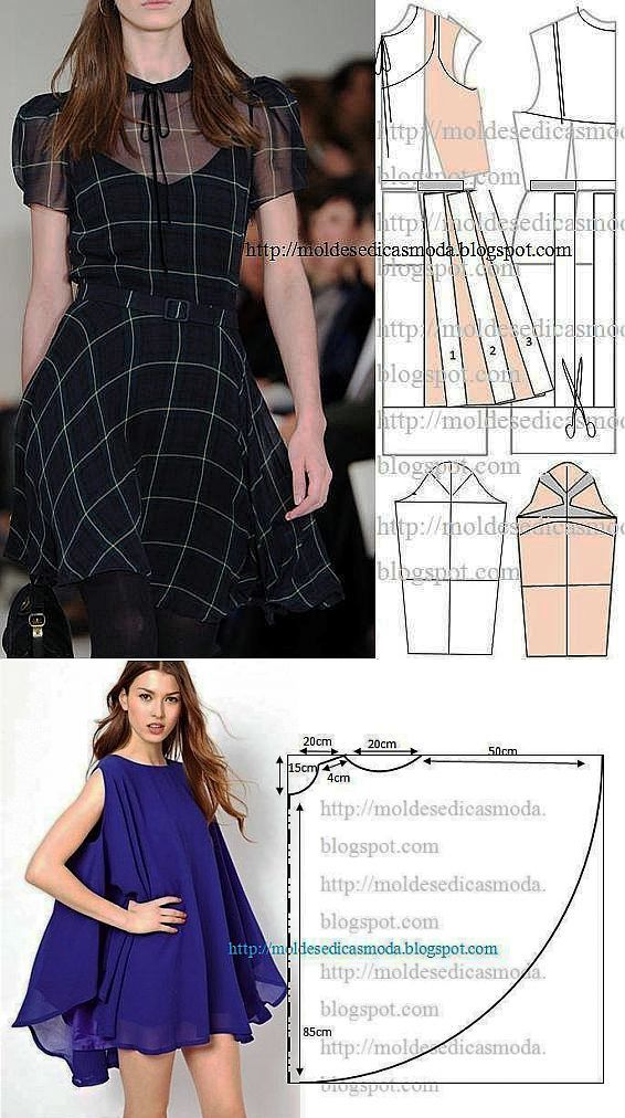 Patterns summer dresses.