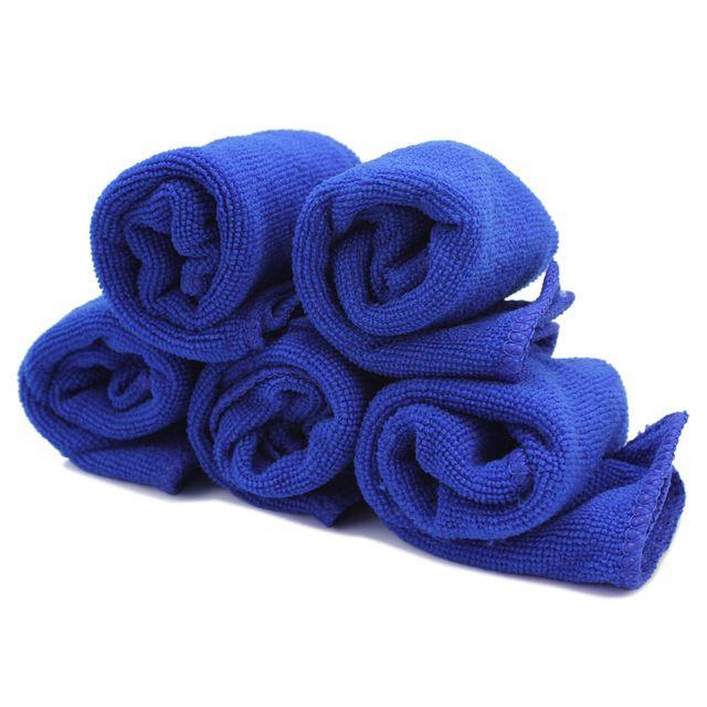 5 Шт. Синий 28 х 28 см Мягкая Микрофибра Ткань Для Чистки Полотенце Сушки Освоения Ванна Кухонное Полотенце Дом Ванна Кухня Моющие средства